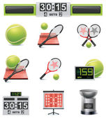 Vector tennis icon set — Stock Vector