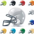 Cтоковый вектор: Vector American football-gridiron icon set. Part