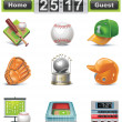 Vector baseball-softball icon set - Stock Vector