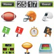 Vector American football-gridiron icon set. Part - Vettoriali Stock