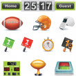 Vektor-american Football-Rost-Icon-Set. Teil — Stockvektor