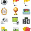 Vector soccer icon set - Stock Vector