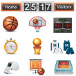 Vector basketball icon set — Stock Vector