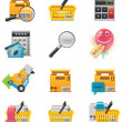 Vector e-commerce icon set - Stock Vector