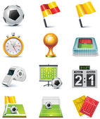 Vector soccer icon set — Stock Vector