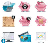 Vector banking icons. Part 1 — Stock Vector