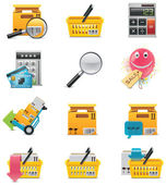 Vector e-commerce icon set — Stock Vector