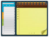 Vector notepad template (horizontal) — Stock Vector