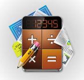 Vektorové kalkulačka xxl podrobné ikony — Stock vektor