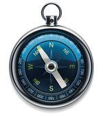 Vector compass XXL detailed icon — Stock Vector