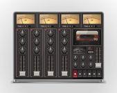 Vector portable recording studio XXL icon — Stock Vector