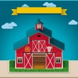 vector barn xxl icon — Stock Vector