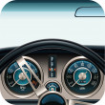 Vector car dashboard square icon — Stock Vector #9350775