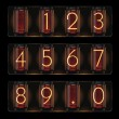 Vector nixie tube with digits - Image vectorielle