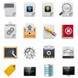 Stock Vector: Vector file server administration icon set