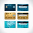 Vector credit cards — Stock Vector