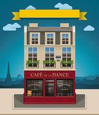 Vector European cafe XXL icon — Stock Vector
