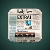 Vector square newspaper XXL icon — Stock Vector