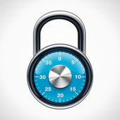 Vector combination padlock — Stock Vector