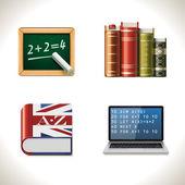 Vector school icons. Part 2 — Stock Vector