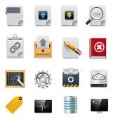 Vektör dosya sunucusu yönetimi icon set — Stok Vektör