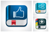 Vector social media sharing icon set — Stock Vector