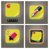 Vector sticky note icon set — Stock Vector