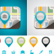 Customizable map location icon — Image vectorielle