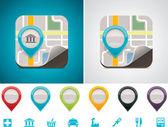 Customizable map location icon — Stock Vector