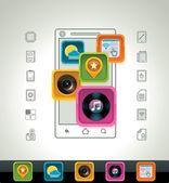 Vektor-smartphone-symbol — Stockvektor