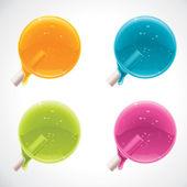 Piruletas colorido vector — Vector de stock
