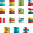 Vector flags. South America, part 5 — Stockvectorbeeld