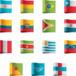 Vector flags. South America, part 5 — Imagen vectorial