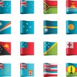 Vector flags. Oceania, part 12 - Stock Vector