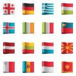 Vector flags. Europe, part 2 — Stock Vector