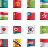Vector flags. Asia, part 6 — Stock Vector