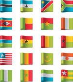 Vector flags. Africa, part 11 — Stock Vector