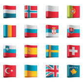 Vector flags. Europe, part 3 — Stock Vector