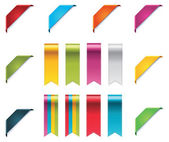 Vector ribbons set — Stockvector