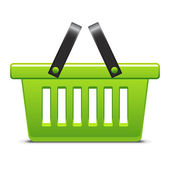 Green basket — Vector de stock