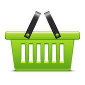 绿色购物篮 — 图库矢量图片