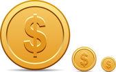 Coin icon — Stock Vector