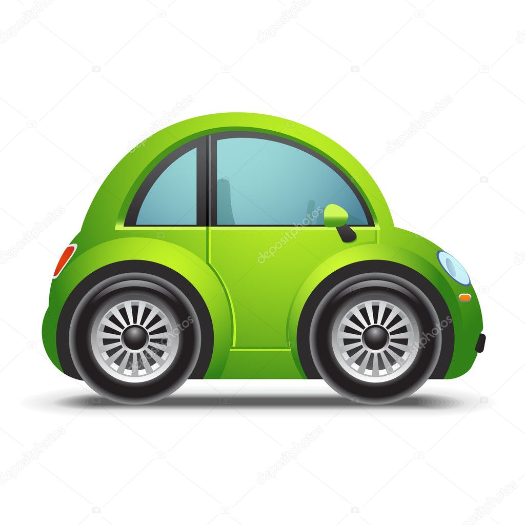 Green Car Icon Eco Friendly Green Car
