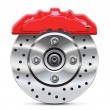 Brake disc with caliper - Grafika wektorowa