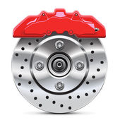Brake disc with caliper — Stockvector