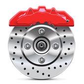 Disque de frein avec etrier — Vecteur