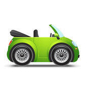 Green cabriolet — Stock Vector