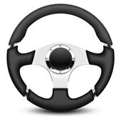 Steering wheel icon — Stock Vector