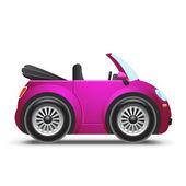 Rosa cabriolet — Vector de stock