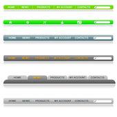 Editable navigation bar — Stock Vector